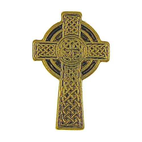 Jim Clift Design Celtic Cross Gold Lapel Pin - 1 Count