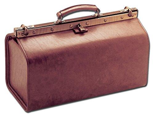 GiMa grote polosjes van acragas gesimuleerde lederen medical tas, kleur cognac, voor artsen, GP, dierenartsen