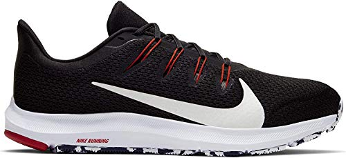 Nike Quest 2, Zapatillas de Atletismo para Hombre, Multicolor (Black/White/Anthracite/University Red 008), 46 EU