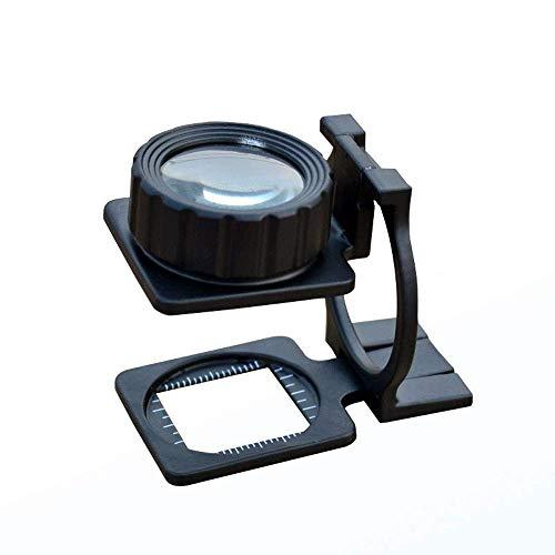 HJTLK Básculas de baño Digitales, 10x lupas de Escritorio con Clip y luz LED de Alta definición para la identificación de medición de Escala Wenwan Jewelry Cinder