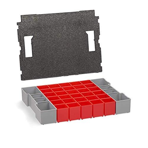 Aufbewahrungsbox L-BOXX 102 Insetboxen-Set | A3 Einsätze mit Deckelpolster | Erstklassige Sortierboxen für Kleinteile | Ideales Ordnungssystem