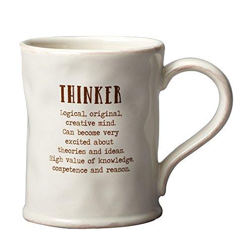 Enesco 4054298 VoHo Thinker Mug, 4', C
