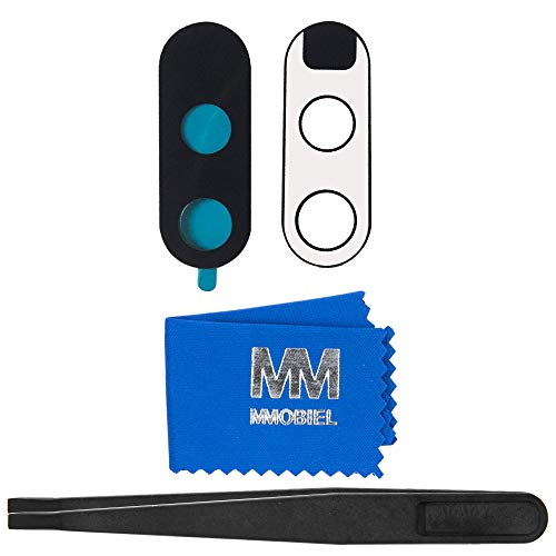 MMOBIEL Linse von Rück Back Kamera Ersatz kompatibel mit Motorola Moto G4 Plus Series (Schwarz) mit Pizette und Tuch