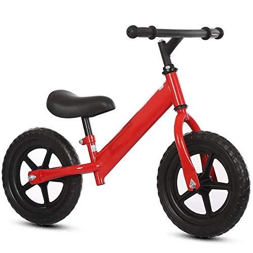 YumEIGE Fiets zonder pedalen – Foam Wheel, Balance Bike – Installatie Facile, eerste fiets, cadeau voor kinderen van 1 tot 7 jaar, 4 kleuren Rood