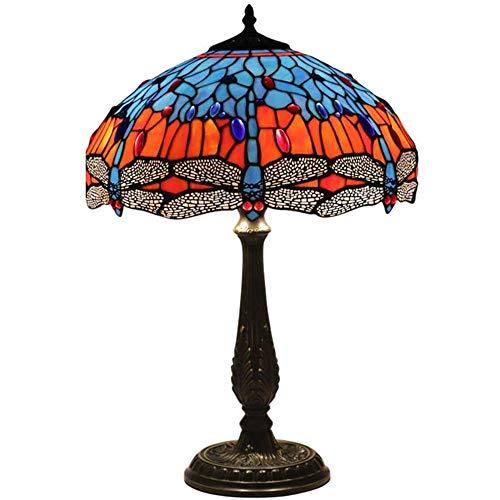 Europese landelijke stijl handgemaakte tafellamp, slaapkamer bedlampje, geschikt for een woonkamer, een Amerikaanse bar, koffie, glas in lood creatieve vloer lamp woon