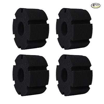 Powkoo Sponge Filter Replacement, 4-Pack Replacement Sponges for Aquarium Fish Tank Filter (Replacement Sponges for M)