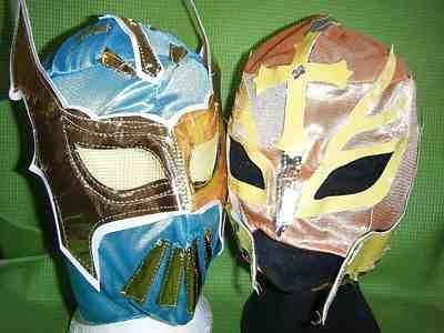 SOPHZZZZZ TOY SHOP Sin Cara Color y Will Variar Rey Mysterio WWE Lucha Máscara Disfraz Disfraz Cosplay Mexicano Deportes Fighting Nuevo Serie Mexicano Infantil Niños
