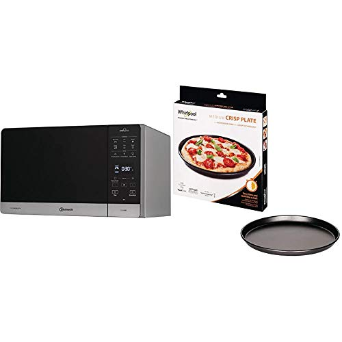 Bauknecht Chef Plus MW 49 SL/ 5in1-Multifunktionsmikrowelle / 800 W/25 L Garraum/Heißluft 1700 W/Quartz Grill 900 W & Whirlpool AVM290 - Mikrowellenzubehör/Crisp-Platte medium (310 mm)