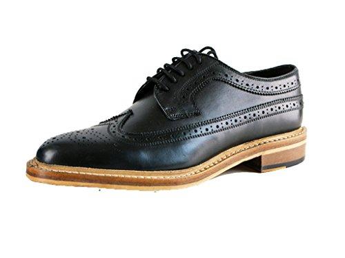 Kensington Classics - Zapatos Gibson Brogue Modelo American Todo Piel Hombre Caballero (41 EU) (Negro)