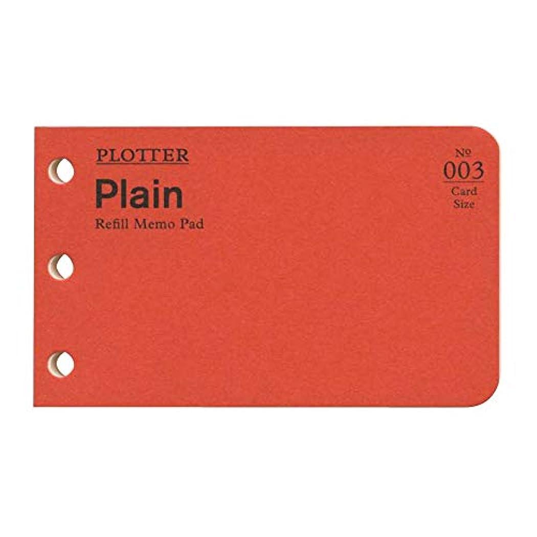 汚れるトランスミッションまっすぐカードサイズ PLOTTER/プロッター リフィルメモパッド 無地 40枚 77716674