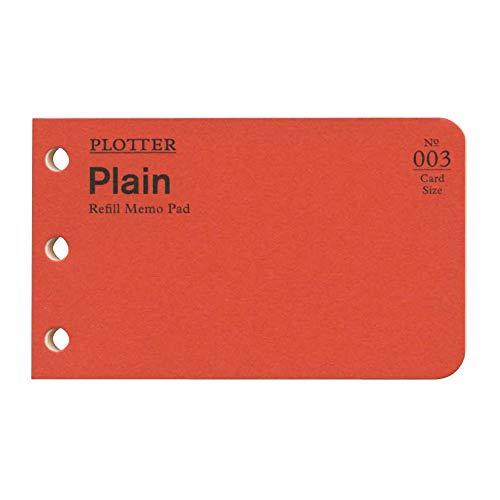 カードサイズ PLOTTER/プロッター リフィルメモパッド 無地 40枚 77716674
