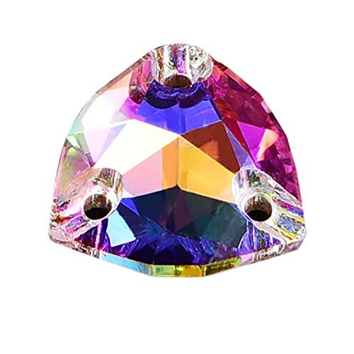 CHUNMA Cristal AB Formas Multi-tamaño 8 AAAAA Cristal de Calidad Coser en Rhinestones Стразы Costura para el Vestido Que Hace la decoración de la joyería (Color : Fat Triangle 12mm/28pcs)