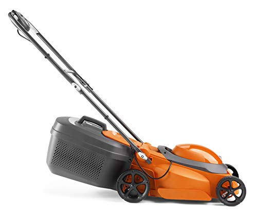 Flymo EasiMow 340R Electric Rotary Lawn Mower - 34 cm Cutting Width, 35 Litre Grass Box, Close Edge Cutting, Rear Roller, Central Height Adjust, Comfortable to Manoeuvre, Foldable Handles