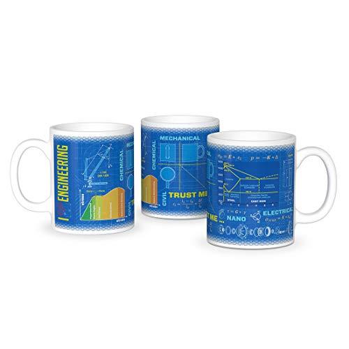getDigital Wissenschaftsbecher Maschinenbau - Perfekte Kaffeetasse für Schüler, Studenten, Ingenieure und Wissenschaftler - 300 ml, Keramik