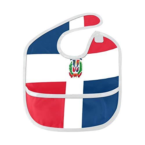 Zemivs Baby Boys Baberos Bandera de República Dominicana Mancha blanda personalizada Bebé alimentación Dribble Drool Baberos Eructo para bebés 6-24 meses Bandera de República Dominicana