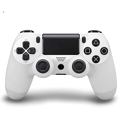 GGXINT Bluetooth Gamepad-Joystick,mit Dual-Vibration Rechargable Remote sechsachsigem Dual Vibration Shock und Audio-Buchse Controller, Wireless Controller für PS4/PS4 Slim/PS4 Pro,Weiß
