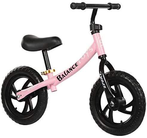 Balance Bike, kein Pedal-Kleinkind-Bike Walking Training Bike mit verstellbarer Sitz Leichtbau nicht aufblasbare Schaumreifen for Alter von 2 bis 6 Jahre alt Jungen und Mädchen Geburtstags-Geschenk In
