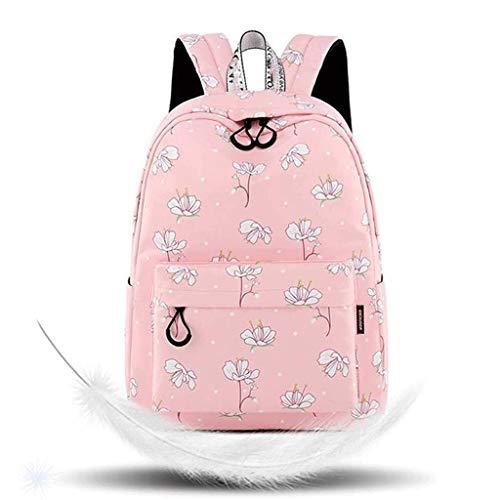 GFDFD Mochila Escolar Conjunto niñas for Mujer Bookbag portátil Casual Daypacks tamaño Laptop