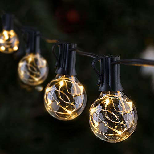 Outdoor LED String Lights, GlobaLink Garden Gazebo Lights, IP65 Waterproof 9.7m G40 Globe LED Festoon Lights with 30 Bulbs for Garden Patio Yard Home Wedding Christmas Parties - Connectable