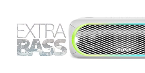 Sony SRS-XB30 Altoparlante Wireless Portatile, Extra Bass, Bluetooth, NFC, USB, Resistente all'Acqua IPX5, Bianco