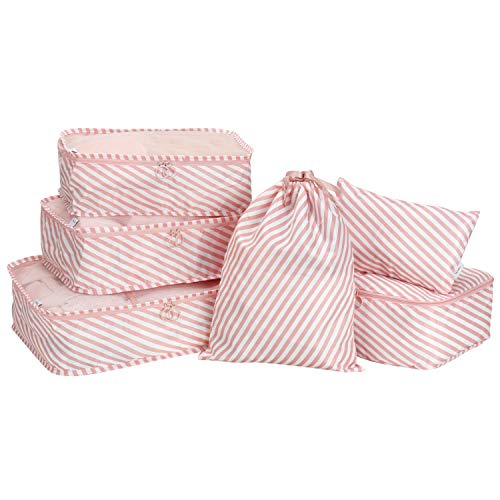 BlushBees Packing Cubes Travel Organiser (Set of 6) (Pink_AND006342)