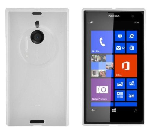 Cadorabo Custodia per Nokia Lumia 1020 in Semi Transparente - Morbida Cover Protettiva Sottile di Silicone TPU con Bordo Protezione - Ultra Slim Case Antiurto Gel Back Bumper Guscio