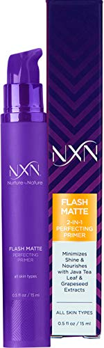 NxN 2-in-1 Matte Primer with Java Tea Leaf & Grapeseed to Nourish Skin & Minimize Pores for All Skin Types O.5 FL Oz