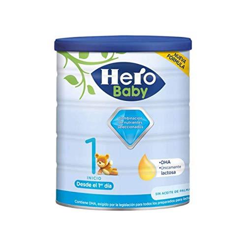 Hero Baby 1 - Leche en Polvo de Inicio para Lactantes hasta los 6 Meses, Crecimiento y Desarrollo - 800g