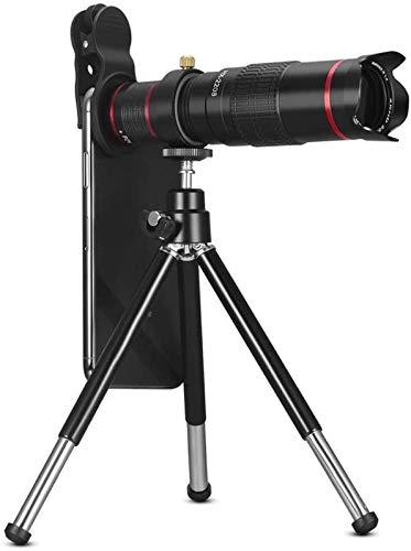 FCYQBF Teleobjetivo Super List Lente de Barril 22 Veces Teléfono móvil Telescopio fotográfico HD Alta Potencia Bak4 Adaptador de Prisma Trípode Viajar Senderismo Camping Al Aire Libre