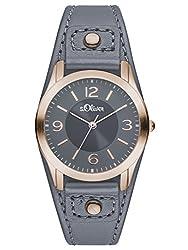 S.Oliver Damen Analog Quarz Armbanduhr SO-2947-LQ
