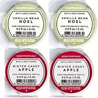 Bath and Body Works Winter Candy Apple & Vanilla Bean Noel Scentportable Fragrance Refill. 0.2 Oz