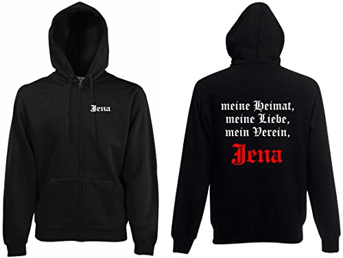 world-of-shirt Herren Kapuzenjacke Jena Ultras meine Heimat