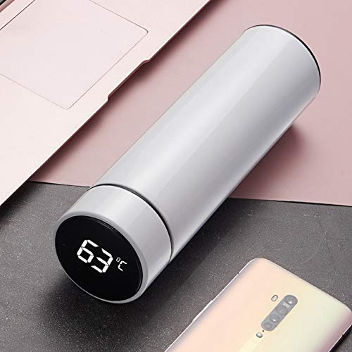 Termo de acero inoxidable al vacío pantalla de temperatura inteligente botella de agua viaje deporte hogar botella de agua café leche taza - 500 ml, 4