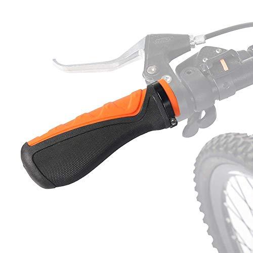 Orange Bike Grips, Comfort Locking Ergonomic Bike Grips, Rubber Bike Handlebar Shifter Grips for Mountain Bike, Mountain Bike Grips, Folding Bicycles Single-Speed Bicycles, 22mm, 1 Pair
