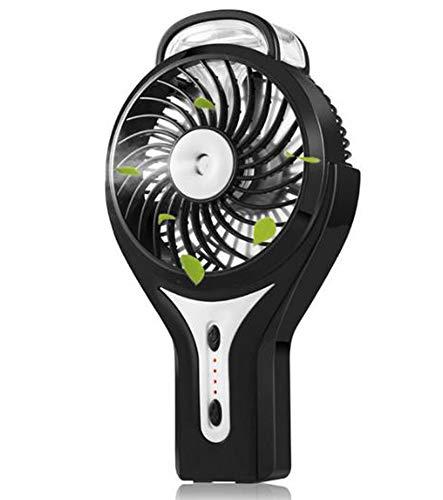 Ventilador De Mano del USB del Aerosol Silencio De Mini Humectación E Hidratación, para Aplicaciones En Exterior Y El Hogar,Negro