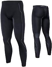 Souke Sports Heren Compressie Lange Tights Workout Fitness Hardlopen Fietsen Compressie Basislaag Shapewear Tights Legging