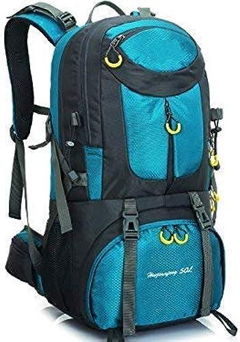WYJW Sports de Plein air et d'intérieur 50L de plein air de plein air Sac à Dos Sac d'escalade Randonnée Camping Sac à Dos (Bleu Royal)