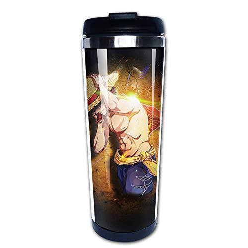 Ahdyr Anime One-Pie-ce Tazas de café Taza de viaje Calentador Vaso Taza Personalizar Arte Botella de agua Termo Tazas de café con tapas 13.5 oz