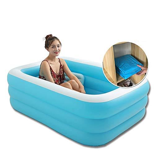 Baignoire gonflable Protection de l'environnement à la maison de PVC Baignoire gonflable de piscine Baignoire gonflable portative épaissie avec la baignoire adulte de pompe à air électrique