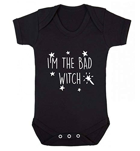 Flox Creative Baby Vest I'm The Bad Witch - Noir - XS