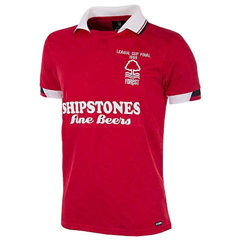 copa Nottingham Forest Retro Trikot League Cup Finale 1989 rot, L