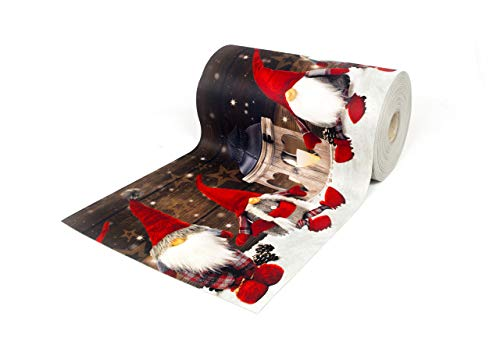 BIANCHERIAWEB Tappeto Passatoia Antiscivolo con Stampa Digitale Dis. Elfo Natale 50x230 Neve