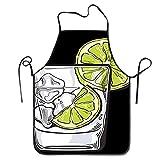 Delantal de cristal de ginebra con vodka para agua y hielo, divertido delantal de cocina, impermeable, lavable, para mujeres y hombres, para cocinar, barbacoa, fiesta de hornear (sin bolsillo)