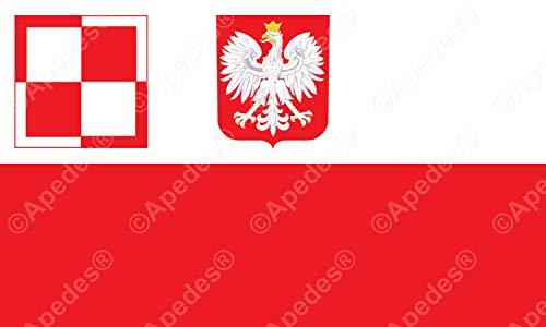 Aufkleber für Computer-Tablet, Motiv Polnische Luftwaffe, 7,6 x 12,7 cm