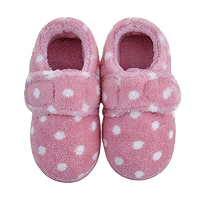 Amazon - Save 50%: HOMEHOT Little Toddle Girls Slippers with Memory Foam Warm House Slippe…