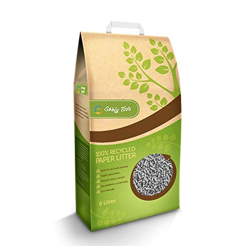 Goofy Tails Cat Litter Eco-Friendly 100% Recycled Paper Based Ultra Absorption (6 litres)