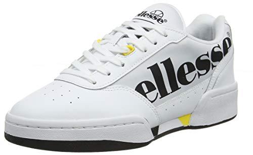 Ellesse Piacentino, Zapatillas Mujer, Blanco Blanco Negro YLW Wht...
