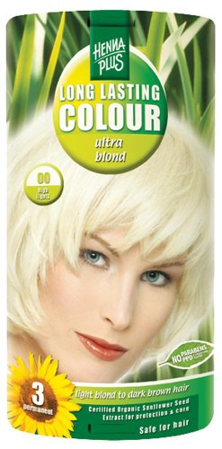Hennaplus 49130 Long Lasting Colour 00 Ultra Blond