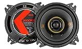 Kicker KSC404 - Altavoces coaxiales de 2 vías (10 cm, KSC404-47, 150 W, 1 par, KSC40)