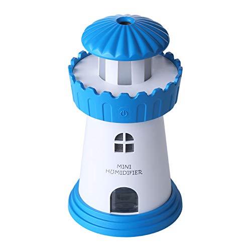 RUGU Humidificador de Aire por ultrasonidos Faro de Coche con USB Oficina de luz LED Purificador de Aire Mini portátil Esencial del difusor del Aceite del Aroma,Azul